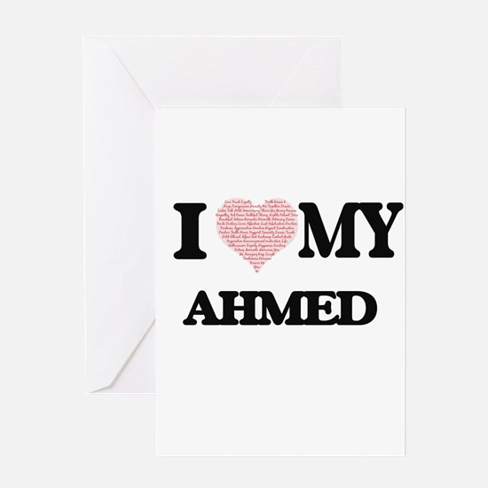 I Love my Ahmed (Heart Made from Lo Greeting Cards