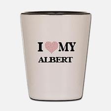 I Love my Albert (Heart Made from Love Shot Glass