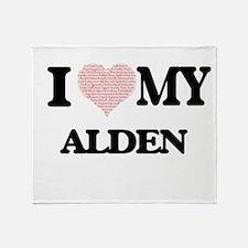 I Love my Alden (Heart Made from Lov Throw Blanket