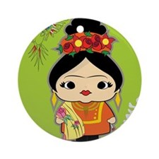 Frida Kahlo Round Ornament