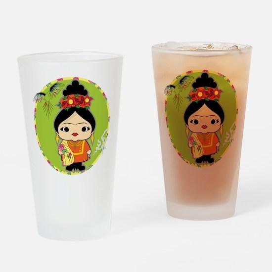 Frida Kahlo Drinking Glass