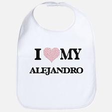 I Love my Alejandro (Heart Made from Love my w Bib