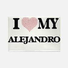 I Love my Alejandro (Heart Made from Love Magnets