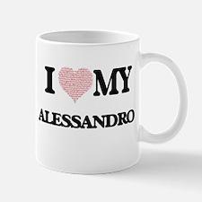 I Love my Alessandro (Heart Made from Love my Mugs