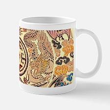 chinese dragon gold kimono Mugs
