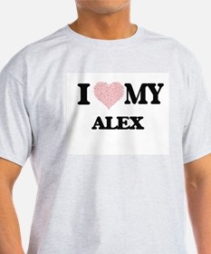I Love my Alex (Heart Made from Love my wo T-Shirt