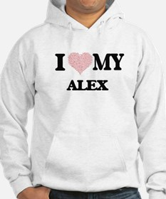 I Love my Alex (Heart Made from Hoodie
