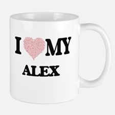 I Love my Alex (Heart Made from Love my words Mugs