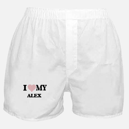 I Love my Alex (Heart Made from Love Boxer Shorts