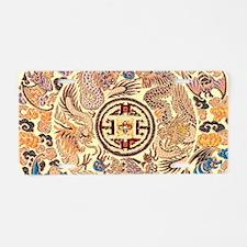 gold kimono chinese dragon Aluminum License Plate