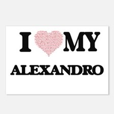 I Love my Alexandro (Hear Postcards (Package of 8)