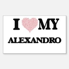 I Love my Alexandro (Heart Made from Love Decal