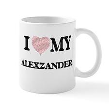 I Love my Alexzander (Heart Made from Love my Mugs