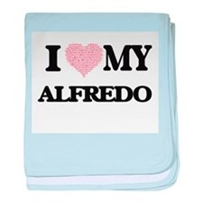 I Love my Alfredo (Heart Made from Lo baby blanket