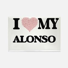 I Love my Alonso (Heart Made from Love my Magnets