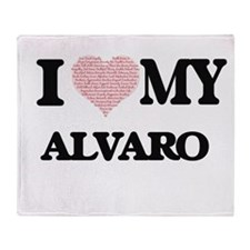 I Love my Alvaro (Heart Made from Lo Throw Blanket