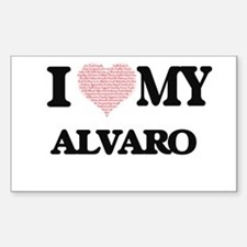 I Love my Alvaro (Heart Made from Love my Decal