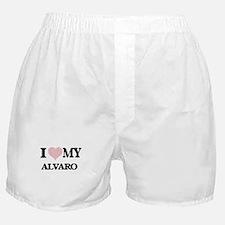 I Love my Alvaro (Heart Made from Lov Boxer Shorts