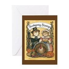 Thanksgiving Couple Greeting Card