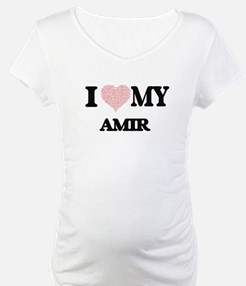 I Love my Amir (Heart Made from Shirt