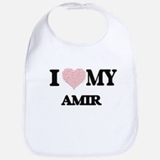 I Love my Amir (Heart Made from Love my words) Bib