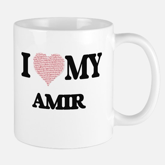 I Love my Amir (Heart Made from Love my words Mugs
