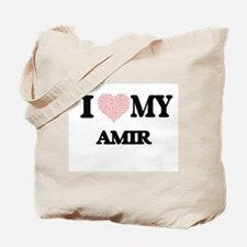 I Love my Amir (Heart Made from Love my w Tote Bag