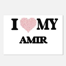 I Love my Amir (Heart Mad Postcards (Package of 8)