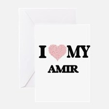 I Love my Amir (Heart Made from Lov Greeting Cards