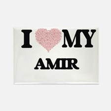 I Love my Amir (Heart Made from Love my wo Magnets