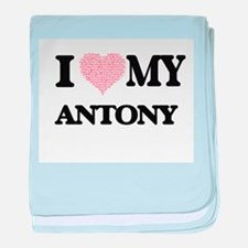 I Love my Antony (Heart Made from Lov baby blanket