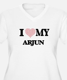 I Love my Arjun (Heart Made from Plus Size T-Shirt