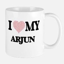 I Love my Arjun (Heart Made from Love my word Mugs