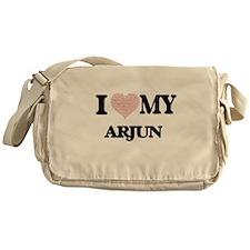 I Love my Arjun (Heart Made from Lov Messenger Bag