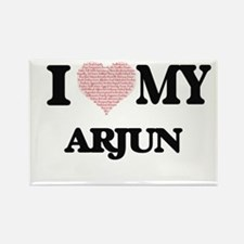 I Love my Arjun (Heart Made from Love my w Magnets