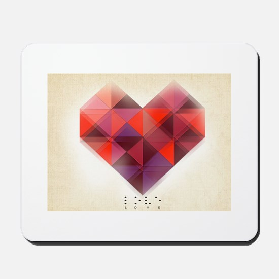Hearts Braille Mousepad