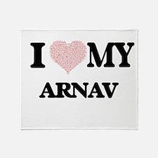 I Love my Arnav (Heart Made from Lov Throw Blanket