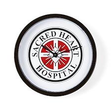 Sacred Heart Hospital Logo Wall Clock