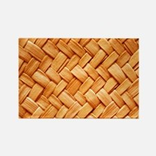 WOVEN STRAW Rectangle Magnet