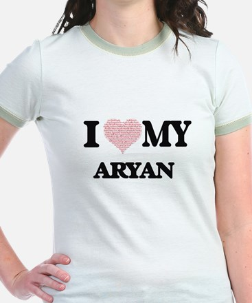 I Love my Aryan (Heart Made from Love my w T-Shirt