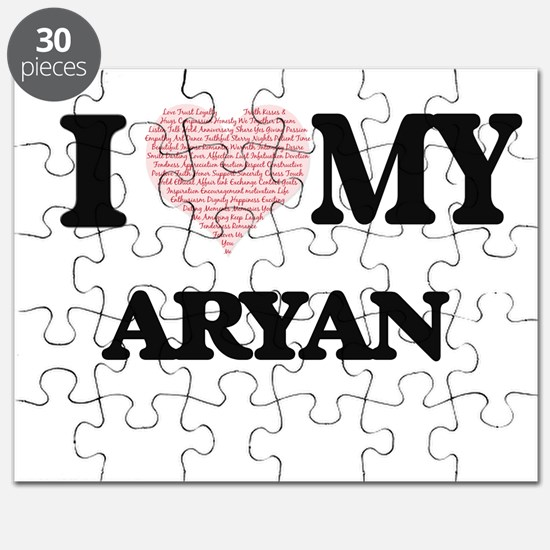 I Love my Aryan (Heart Made from Love my wo Puzzle