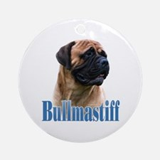 Bullmastiff(red)Name Ornament (Round)