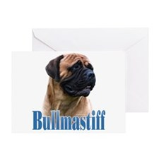 Bullmastiff(red)Name Greeting Card
