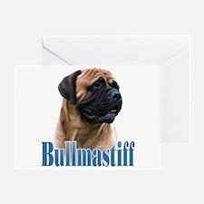 Bullmastiff(red)Name Greeting Card