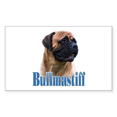 Bullmastiff(red)Name Rectangle Sticker
