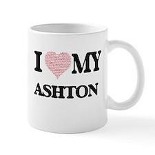 I Love my Ashton (Heart Made from Love my wor Mugs