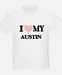 I Love my Austin (Heart Made from Love my T-Shirt