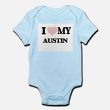 I Love my Austin (Heart Made from Love m Body Suit