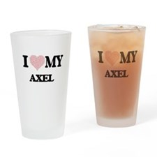 I Love my Axel (Heart Made from Lov Drinking Glass