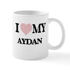 I Love my Aydan (Heart Made from Love my word Mugs